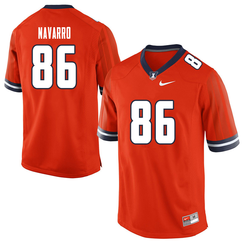 Men #86 Donny Navarro Illinois Fighting Illini College Football Jerseys Sale-Orange
