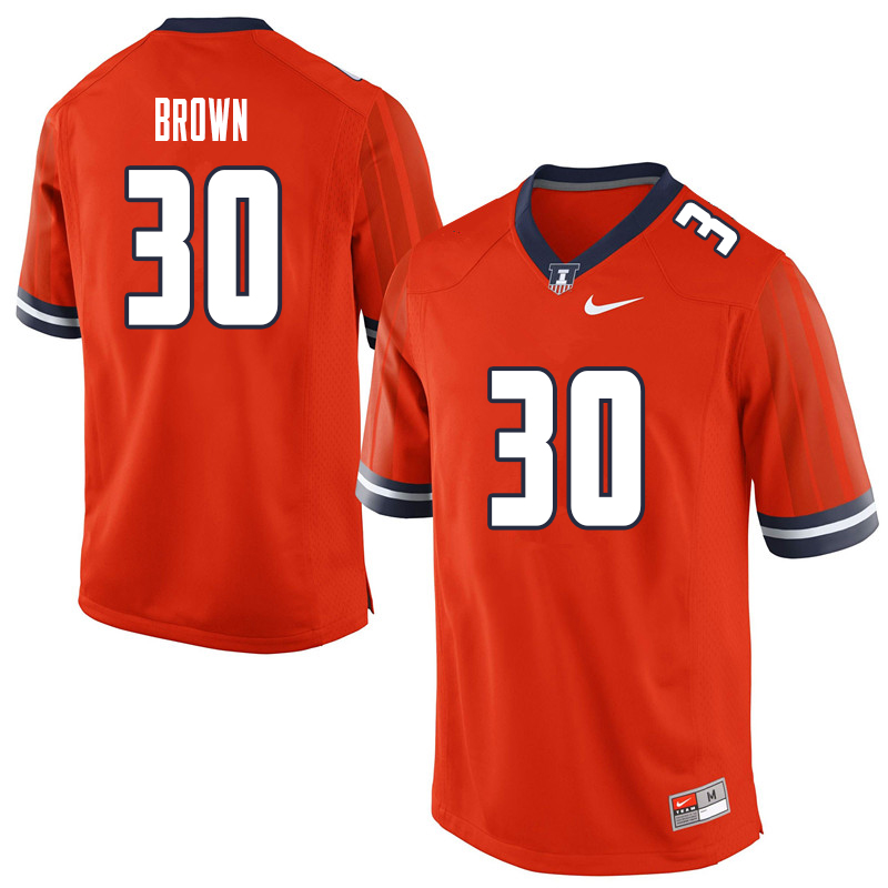 Men #30 Sydney Brown Illinois Fighting Illini College Football Jerseys Sale-Orange