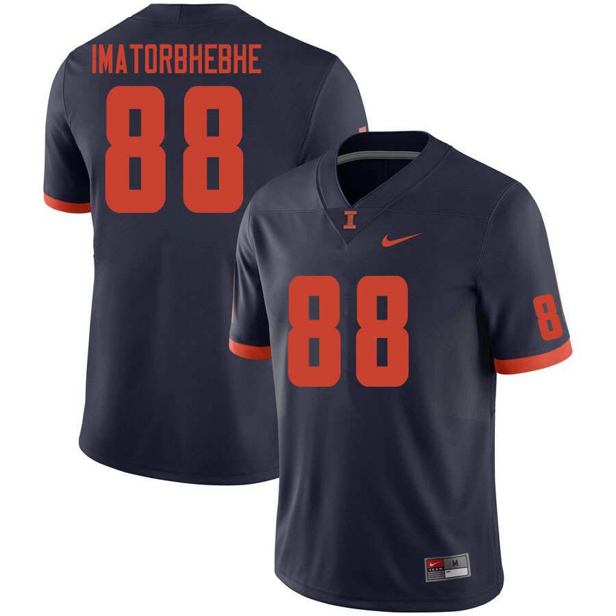 Men #88 Daniel Imatorbhebhe Illinois Fighting Illini College Football Jerseys Sale-Navy