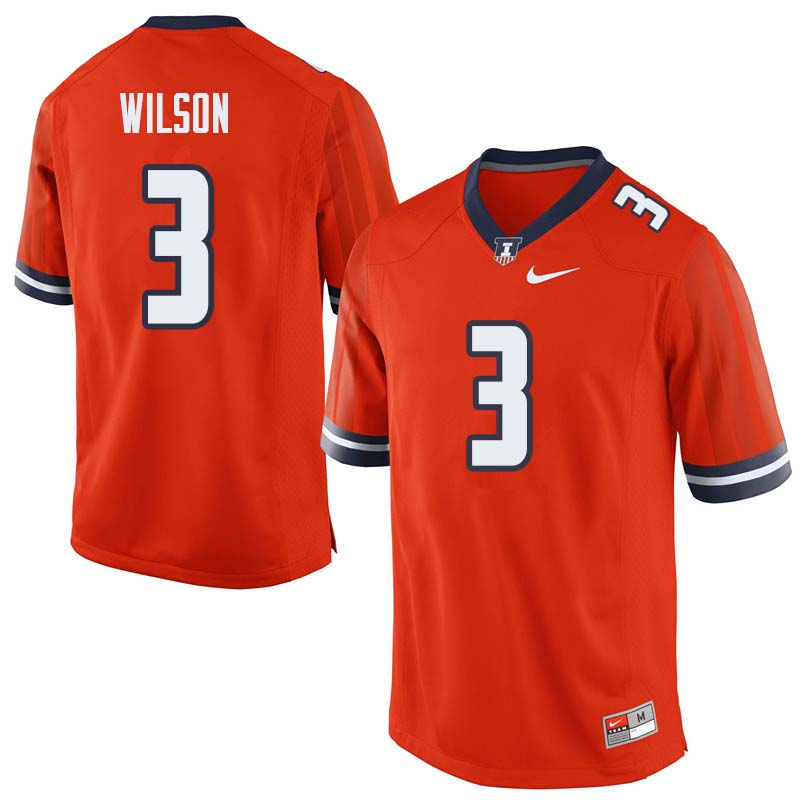 Men #3 Tavon Wilson Illinois Fighting Illini College Football Jerseys Sale-Orange