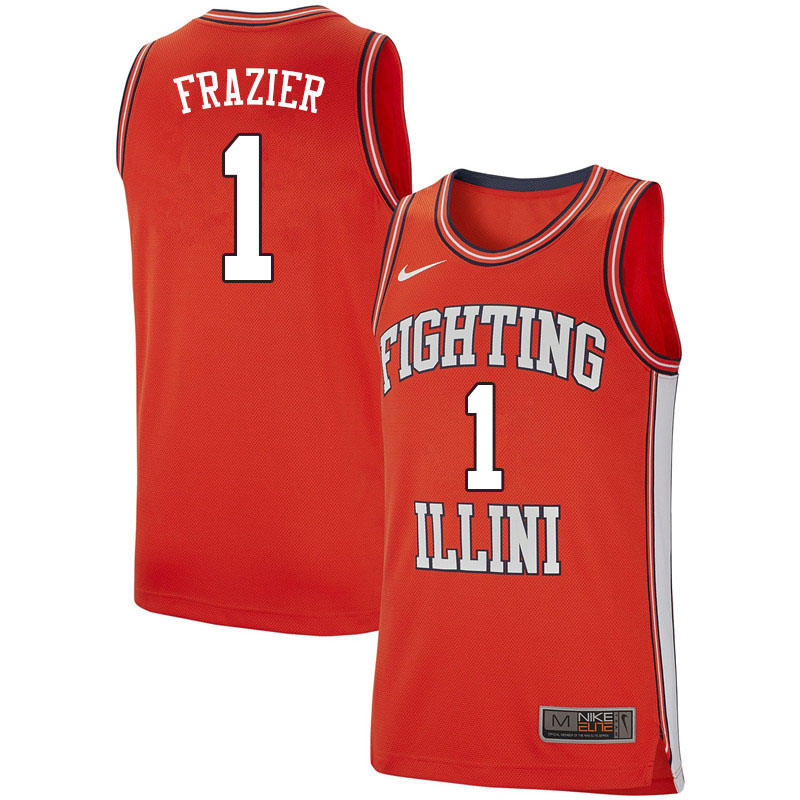 Men #1 Trent Frazier Illinois Fighting Illini College Basketball Jerseys Sale-Retro