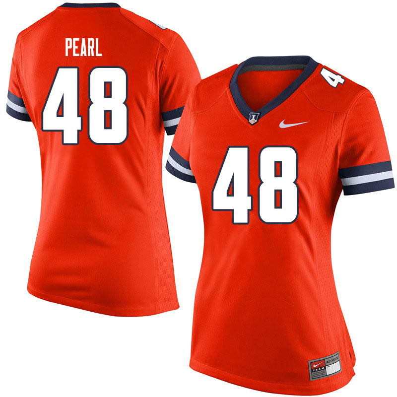Women #48 Julian Pearl Illinois Fighting Illini College Football Jerseys Sale-Orange