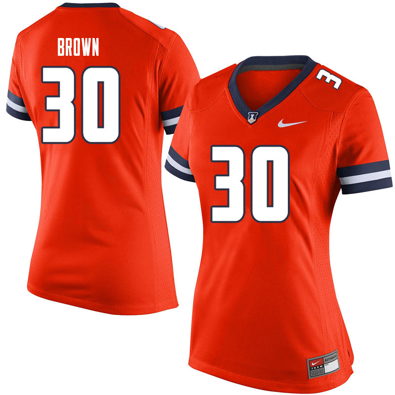 Women #30 Sydney Brown Illinois Fighting Illini College Football Jerseys Sale-Orange