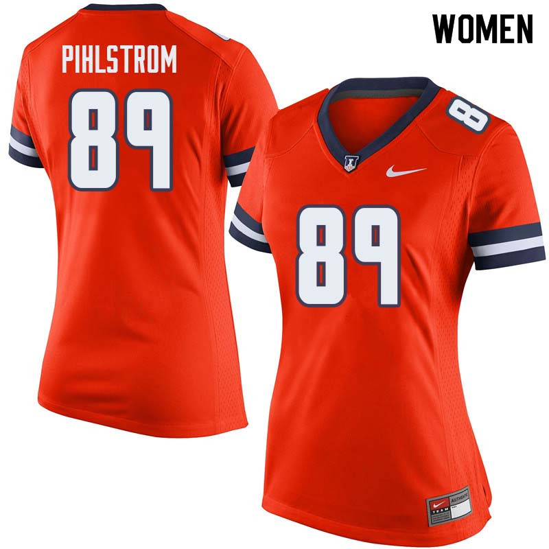 Women #89 Alex Pihlstrom Illinois Fighting Illini College Football Jerseys Sale-Orange