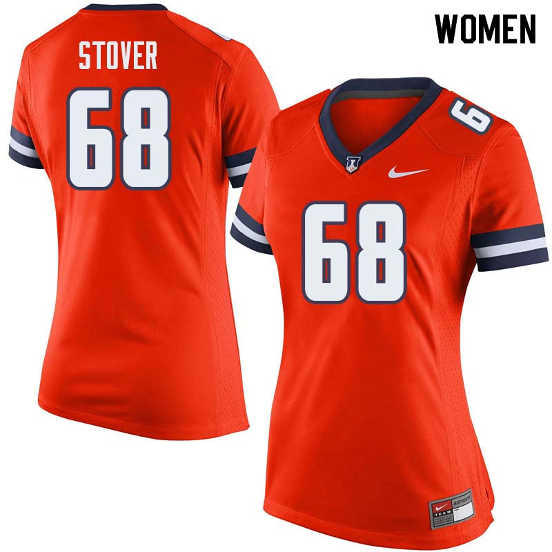 Women #68 Jake Stover Illinois Fighting Illini College Football Jerseys Sale-Orange