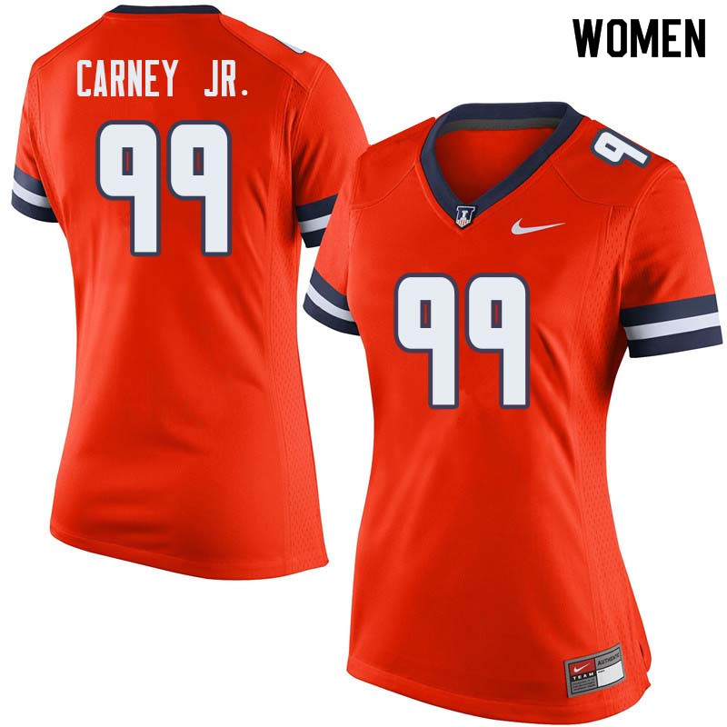 Women #99 Owen Carney Jr. Illinois Fighting Illini College Football Jerseys Sale-Orange