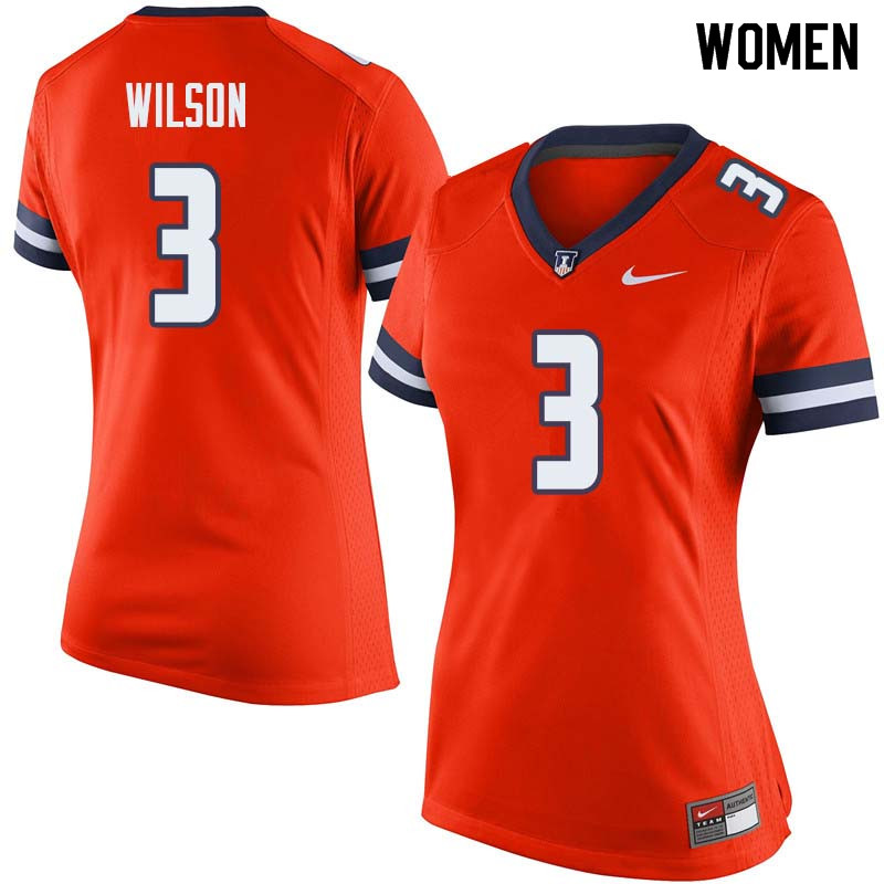 Women #3 Tavon Wilson Illinois Fighting Illini College Football Jerseys Sale-Orange
