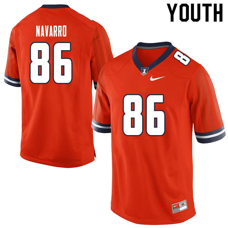 Youth #86 Donny Navarro Illinois Fighting Illini College Football Jerseys Sale-Orange