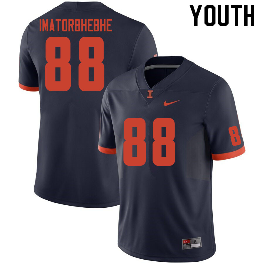 Youth #88 Daniel Imatorbhebhe Illinois Fighting Illini College Football Jerseys Sale-Navy