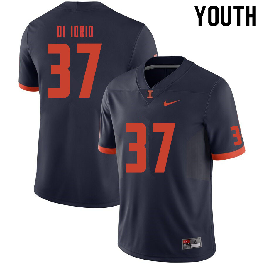 Youth #37 Mark Di Iorio Illinois Fighting Illini College Football Jerseys Sale-Navy