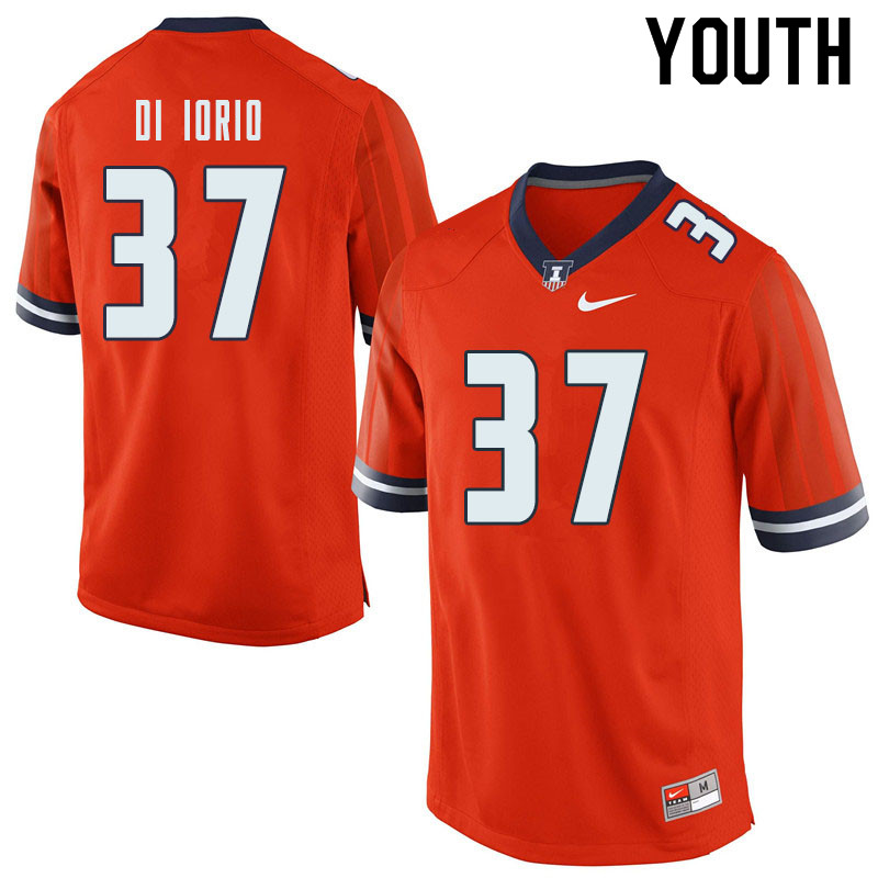 Youth #37 Mark Di Iorio Illinois Fighting Illini College Football Jerseys Sale-Orange
